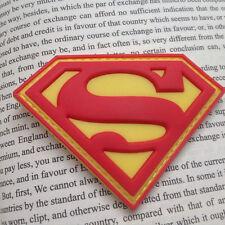 RED SUPER MAN SUPER HERO HOOK LOOP MORALE BADGE TACTICAL 3D PVC PATCH