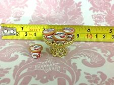 Dollhouse Miniature Food Dessert Haagen-dazs Ice cream 4 pcs w/ Gold Tray 1:12