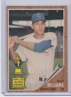 1962 Topps #288 Billy Williams Chicago Cubs Vintage Baseball Card
