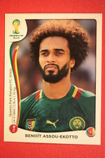 Panini BRASIL 2014 N. 96 ASSOU-EKOTTO CAMEROUN WITH BLACK BACK TOPMINT!!