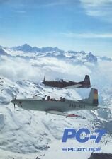 PILATUS PC-7 TUBO TRAINER - BROCHURE, TRAINING MANUAL & AIRPLANE FLIGHT MANUAL