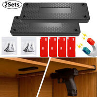 2Pack 50lb Gun Magnetic Mount Holder Holster Concealed Pistol For Car Bed Desk