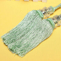 1 Pair Crystal Beaded Tiebacks Tassel Curtain Tie Backs / Tieback Fashion WH