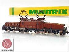 N 1:160 escala locomotive locomotora trenes Trix Minitrix 12956 Ce 6/8 SBB <