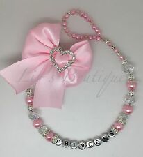 Heart Bow-romany-bling-personalised Dummy Clip