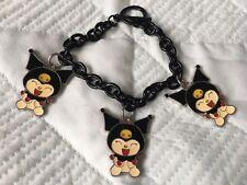 Kuromi Japanese Anime comic con charm bracelet costume jewellery NEW RRP £12.99
