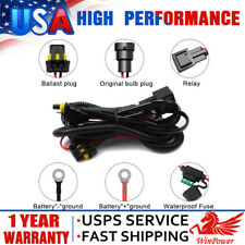12V 40A Xenon HID Conversion Kit Relay Wiring Harness H1 H8 H9 H11 9005 9006 USA