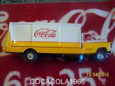 RARE OLD Coca Cola 1950 Coke Truck Bottle Carrier Drink Metal Tiny Toy Service