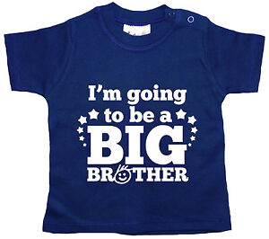 """Baby T-Shirt """"I'm Going to be a Big Brother"""" Boy's Top Tee Clothes"""