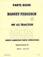 MASSEY FERGUSON MF 65 MF65 Tractor Parts Book Manual