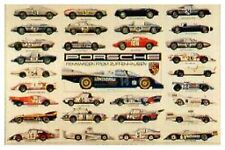 4 BEST PORSCHE HISTORY POSTERS EVER DONE! UNREAL PRICE!! SPECIAL CAR POSTER