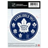"Toronto Maple Leafs 5"" x 7"" Team Heritage Decal Sticker Set NHL Hockey"