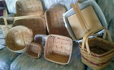 Longaberger baskets LOT of 9 Rare hostess Vintage 1991 1994 1995 pics NEW