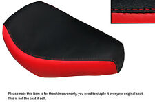 RED & BLACK CUSTOM FITS AJS REGAL RAPTOR DD 250 E FRONT LEATHER SEAT COVER