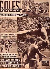 SOCCER Argentina 1 vs Chile 1 - Copa Dittborn 1964 Original GOLES Magazine