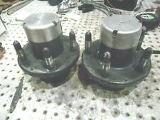 """NASCAR REBUILT 5 X 5 FRONT HUBS WITH CAPS 2-1/4"""" STUDS RACE READY"""
