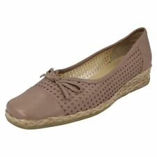 Wedge 100% Leather Wide (EE) Casual Heels for Women