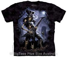 New Play Dead Skeleton Guitarist Plus Size T-Shirt - US SIZE 4XL (Fits AUST 7XL)