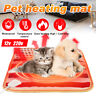 12v Pet Electric Heat Heated Heating Heater Pad Blanket Bed Dog Cat Mat Winter