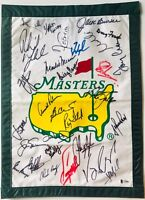 Masters golf flag 29 champs signed jack nicklaus palmer player j. spieth beckett