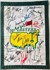 Masters golf champions signed Flag jack nicklaus palmer player 2021 masters pga
