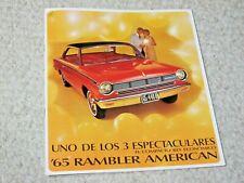 1965 MEXICAN RAMBLER AMERICAN SALES BROCHURE.