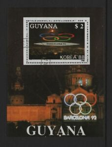 GUYANA 1988 SEOUL OLYMPIC GAMES M/SHEET *CTO*