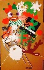 Party Props On A Stick Photo Booth Christmas, Masquerade, Santa Hat, Santa Beard