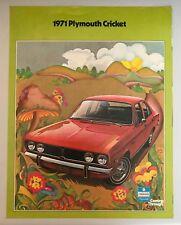 1971 Plymouth Cricket Sales Brochure - Original