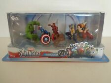 DISNEY MARVEL AVENGERS FIVE PIECE FIGURINE PLAYSET HULK THOR IRON MAN MORE NIB