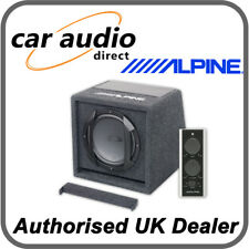 "Alpine SWE-815 8"" 20cm 150W Active Amplified Subwoofer Bass Box with Remote"