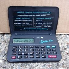 Spelling Cafe handheld Seiko electronic device Dictionary 1983 mini gadget