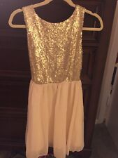 Gold Sequin Dress Size X small
