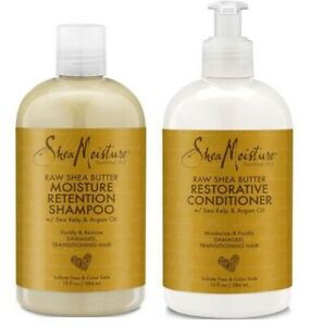 Shea Moisture Raw Shea Butter Moisture Retention Shampoo & Conditioner 13oz each