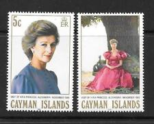 CAYMAN ISLANDS SG675/6 1988 VISIT OF PRINCESS ALEXANDRA MNH