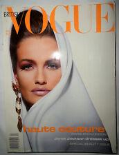 VOGUE British 1991 Karen Mulder Christy Turlington Karl Lagerfeld Shana Zadrick