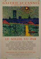 Affiche ANDRE DERAIN 1967 Exposition LE SOLEIL VU PAR Galerie 65 Cannes MOURLOT