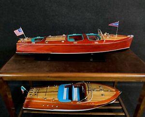 NEU Speedboot Chris Craft Triple Cockpit, Handarbeit, 81 cm, TOP Dekoration