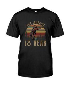 Blazing-Saddles-The-Sheriff-is-Near-Vintage-Black-T-Shirt-Tees_Classic T-Shirt_B