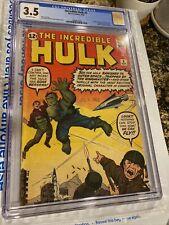 Incredible Hulk #3 Origin CGC 3.5 1962 + 1st App Ringmaster + Circus Of Crime