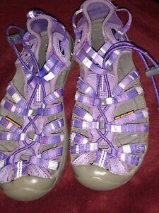 Keen Used Purple Size 2 Waterproof Pull String