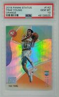 2018-19 Panini Status Orange Trae Young Rookie RC #142, Low pop! Graded PSA 10