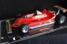 Tamiya built kit Ferrari 312T4 1979 1:12 #12 Gilles Villeneuve (CAN) in vitrine