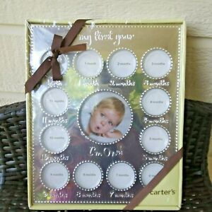 CARTER'S SILVER PICTURE FRAME BABY'S 1ST YEARS