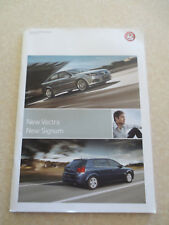 Original 2006 Vauxhall Vectra and Signum cars advertising booklet