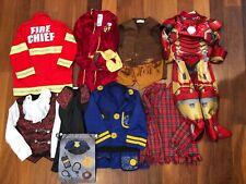 Boy Halloween Dress Up Costumes Size 3T 4T 4 5 Fireman Policeman Ironman Dracula
