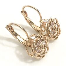Gorgeous Large Diamond Flower Earrings Women Wedding Engagement Jewelry E211