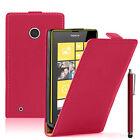 Etui Coque Housse PU Cuir Véritable Flip Cover pour Nokia Lumia 530/530 Dual Sim