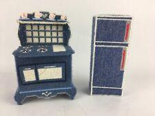 Plastic Canvas Handmade Dollhouse Furniture Barbie Doll Kitchen Stove Fridge