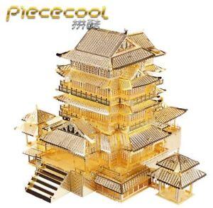 TENGWANG PAVILION 3D Metal nano puzzle model Laser Cut  Metal Metallic Jigsaw